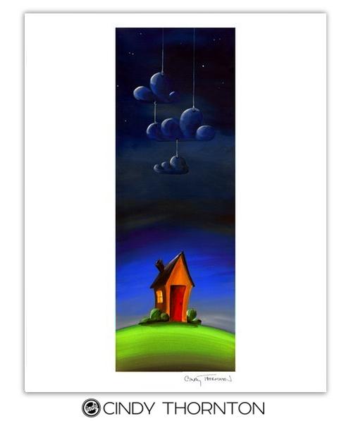 Three Paper Clouds - Cindy Thornton Art