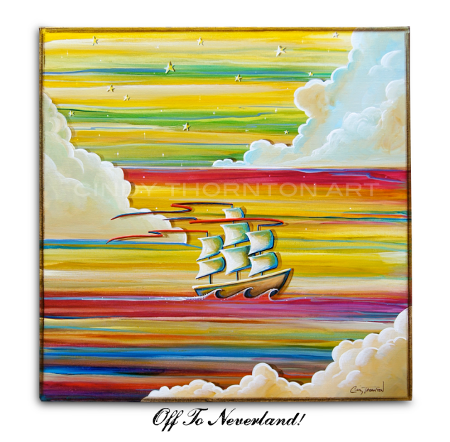 Contemporary Whimsical Clipper Ship -